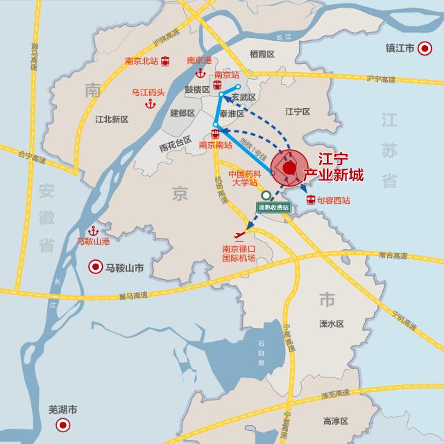 江宁产业新城  南京江宁湖熟工业用土地出售 园区厂房出租 招商引资 智能制造装备产业
