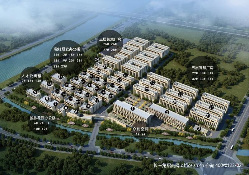 G2726 湖州南太湖高新区 新建独栋研发办公厂房出售 最小1035平方米出售 首付3成