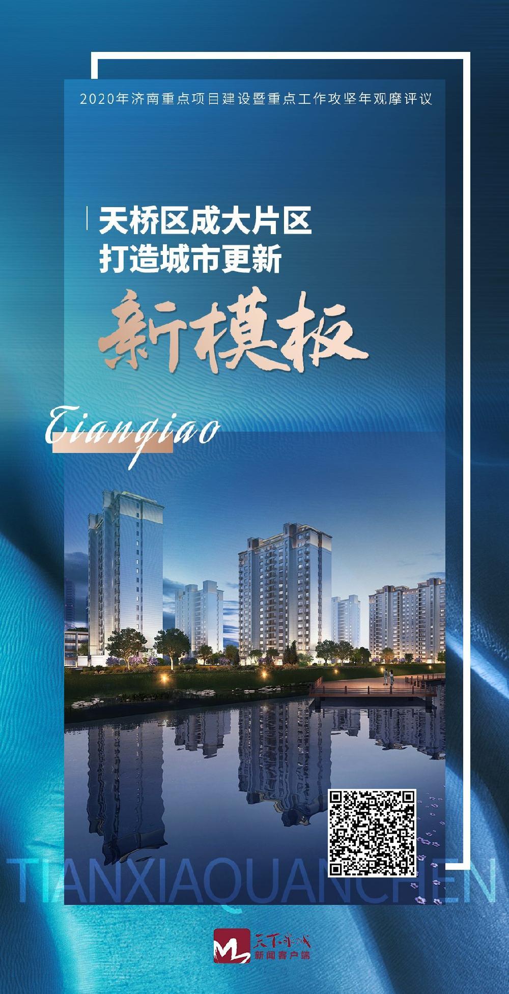 """2020年济南重点项目建设观摩评议 天桥成大片区打造城市更新""""新模板"""""""